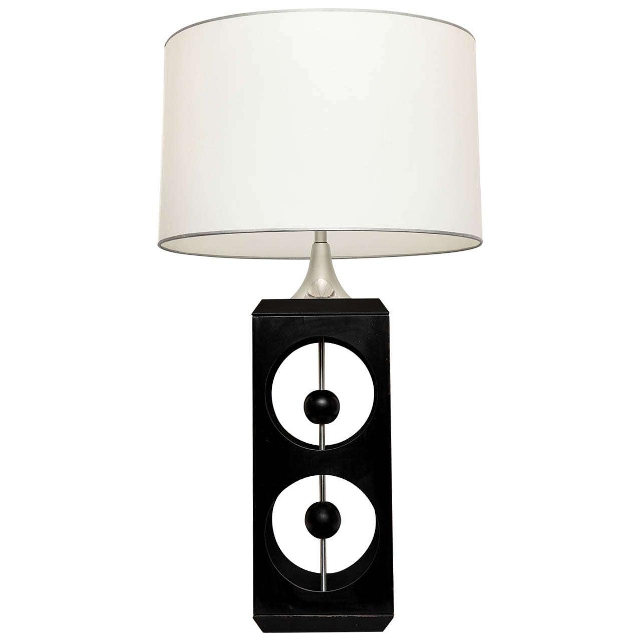 1960s Modernist Table Lamp Signed Modeline