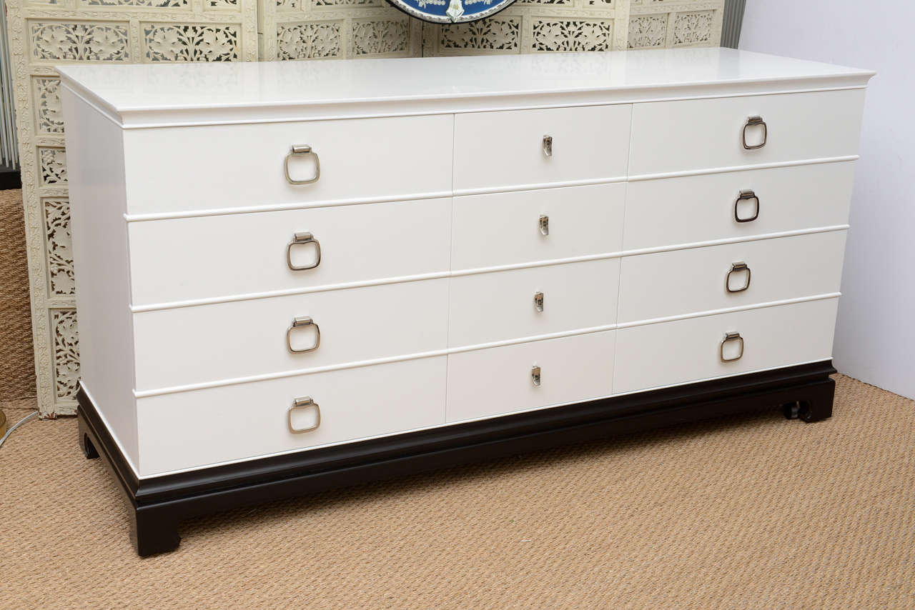 Original 12 Drawer, Asian Style Dresser By The RWAY Furniture Manufacturing  Co.