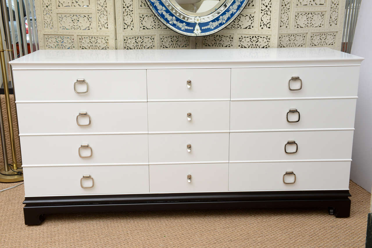 Mid century modern asian style 12 drawer dresser by rway for sale