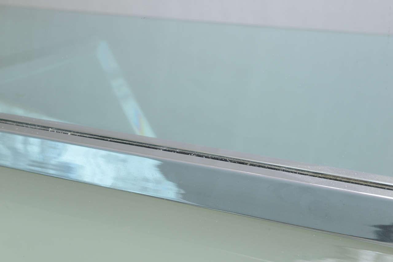 Mid-Century Modern Chromed Wall Mirror For Sale 1