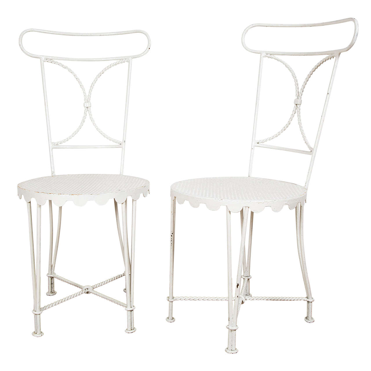 Pair of Wrought Iron Chairs by Gilbert Poillerat