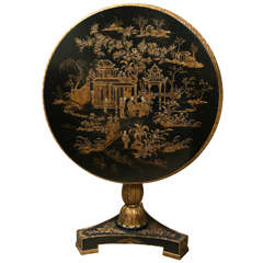 Chinoiserie Lacquer Tilt-Top Table