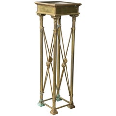 Brass Neo-Classical Style Pedestal