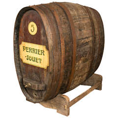 Antique Oval Wine Barrel