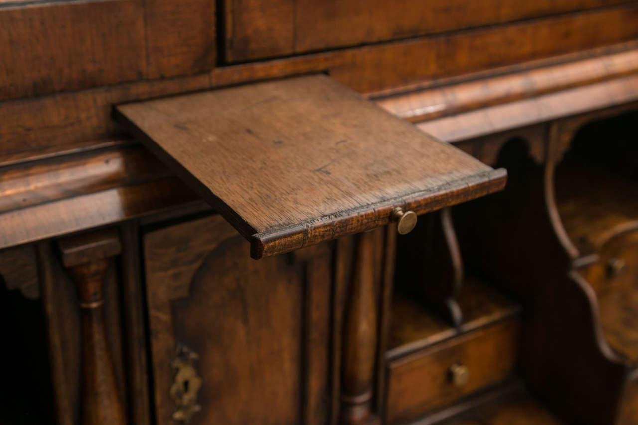 Walnut Slant Front Bureau Bookcase / Secretary For Sale 1