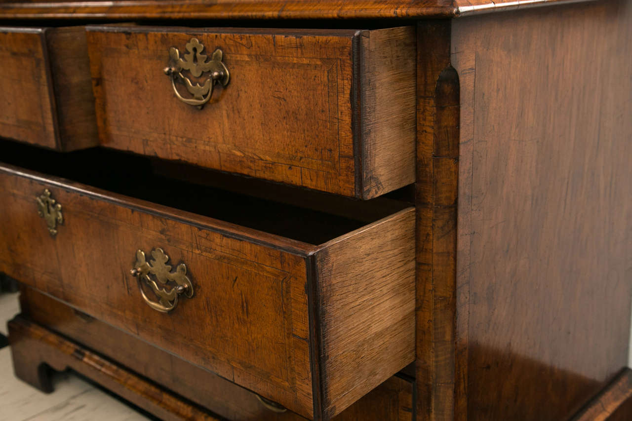 Walnut Slant Front Bureau Bookcase / Secretary For Sale 3