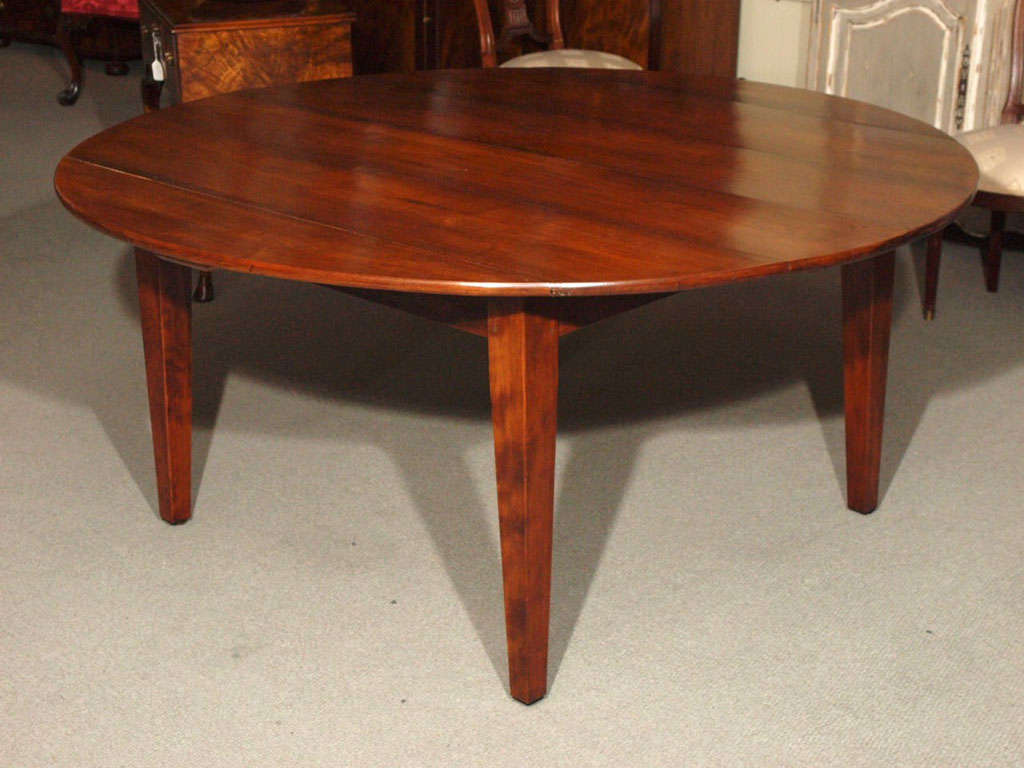 antique french fruitwood round dining table at 1stdibs