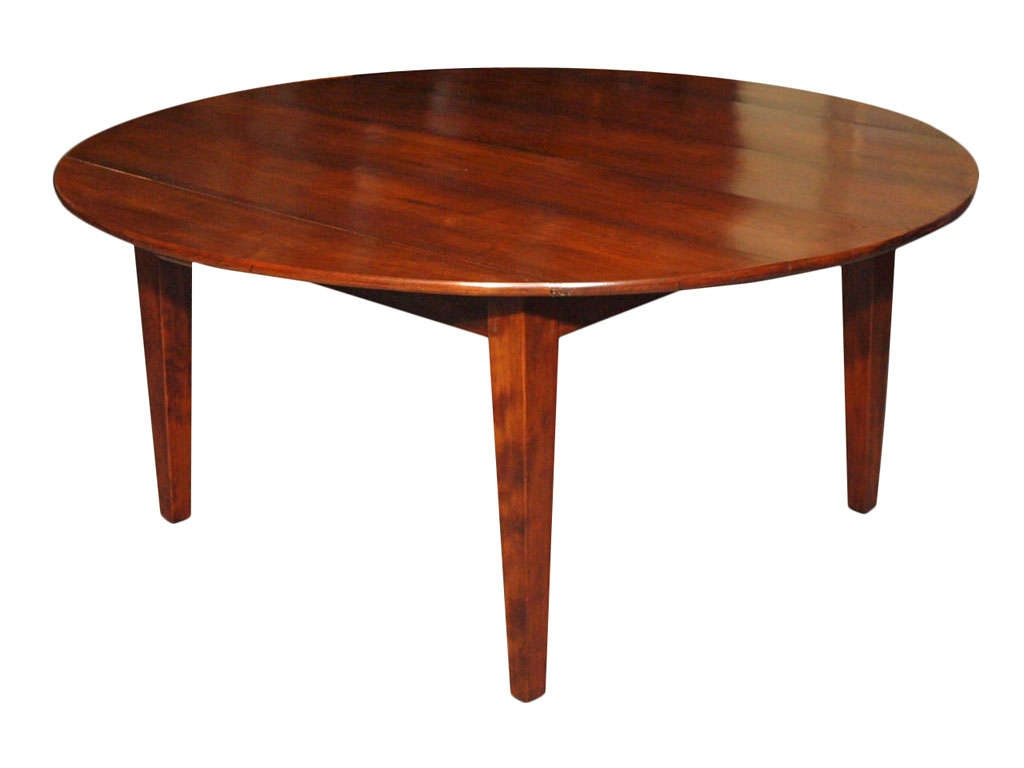 Antique french fruitwood round dining table at 1stdibs - Antique french dining tables ...