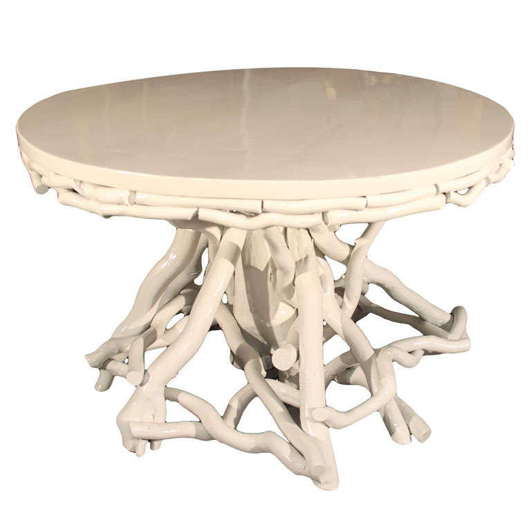 Lacquered Twig Center Table