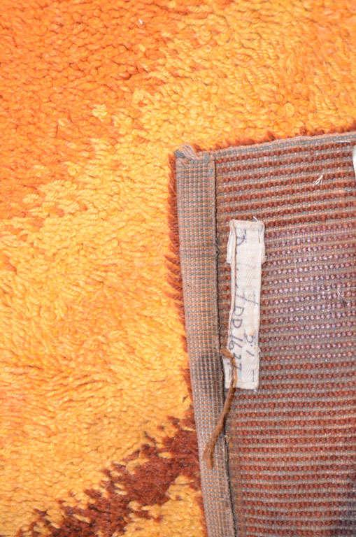 Mid-20th Century Vintage Scandinavian Mid-Century Modern Wool Rya Rug with Dynamic Design  For Sale