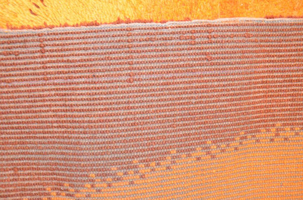 Vintage Scandinavian Mid-Century Modern Wool Rya Rug with Dynamic Design  For Sale 1