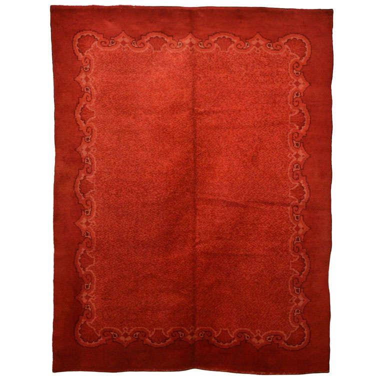 Jugendstil Red Ground Wool Rug Circa 1910