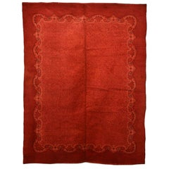Antique Jugendstil Red Ground Wool Rug Circa 1910