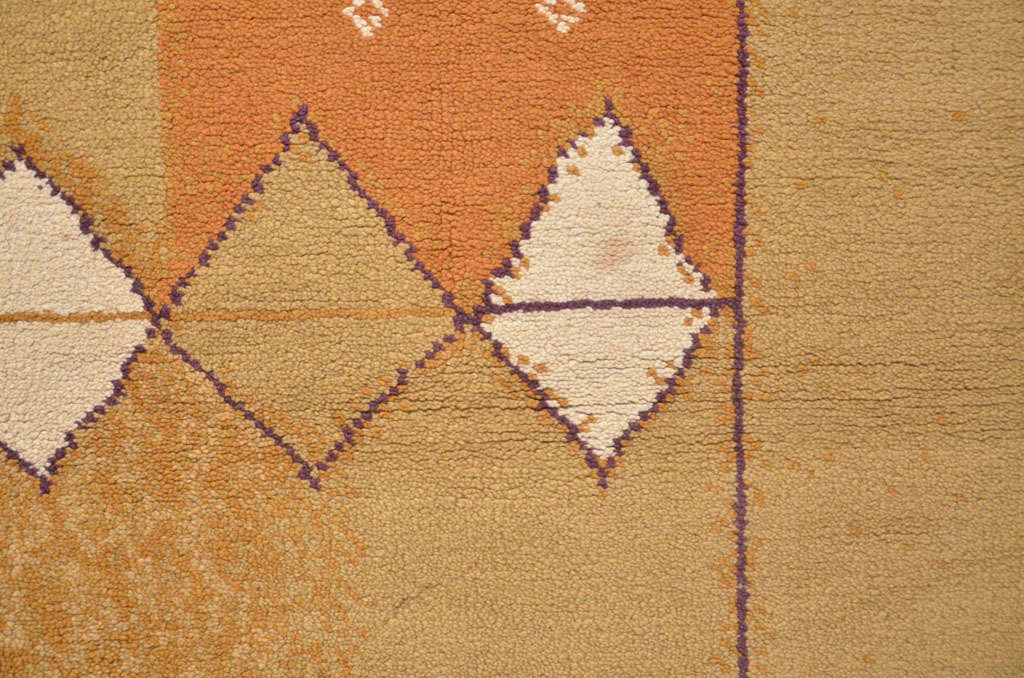 French Mid-Century Modern Wool Rug In Excellent Condition For Sale In Milan, IT