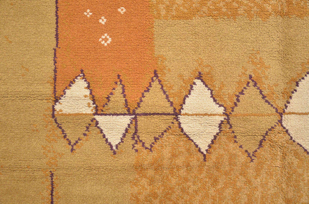 Mid-20th Century French Mid-Century Modern Wool Rug For Sale