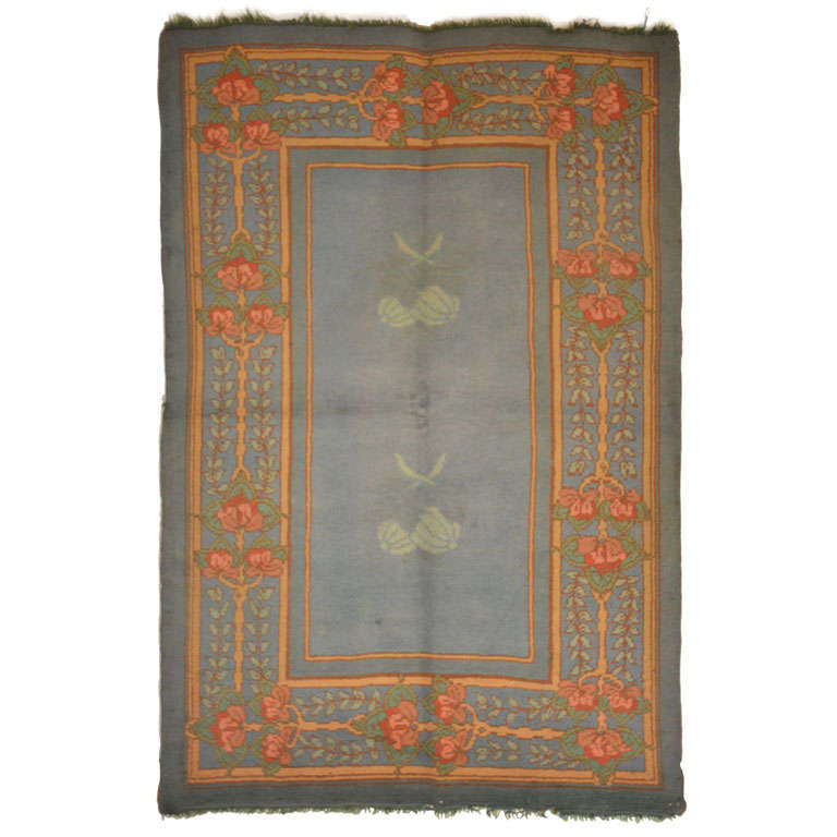arts and crafts donegal rug attributed to gavin morton for. Black Bedroom Furniture Sets. Home Design Ideas
