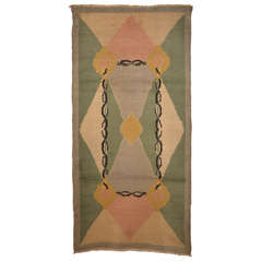 French Art Deco Wool Rug 1930's