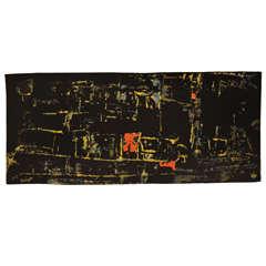 'Karikal', a modernist wool tapestry by Mathieu Matégot