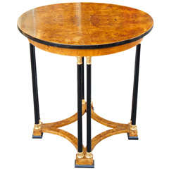 A Baltic Burled Elm Center Table