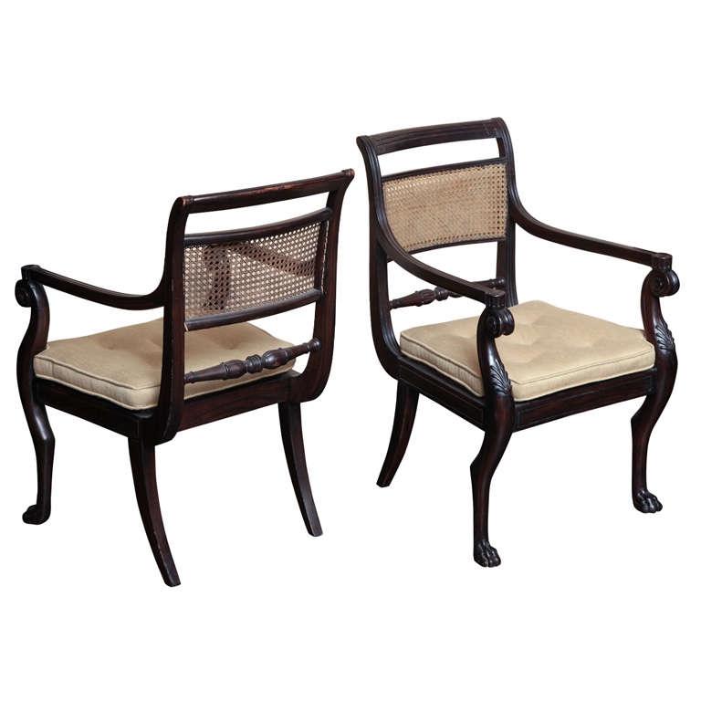 Early 19th Century Caned Armchairs