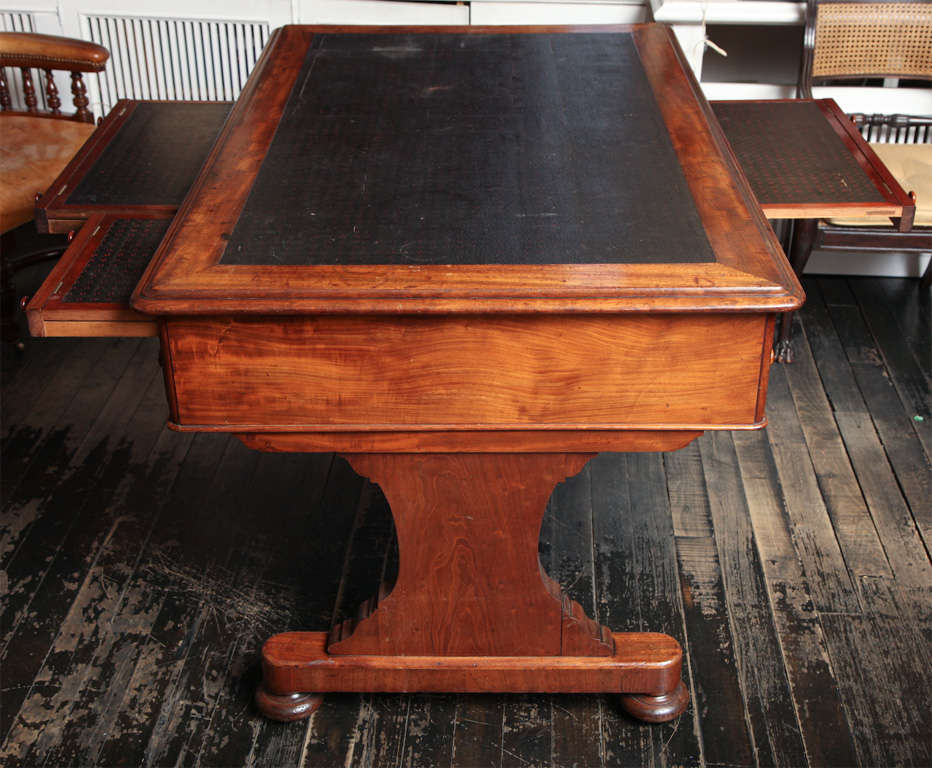 19th century English partners desk with unusual slides