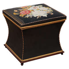 19th Century Needlework and Upholstered Hamper
