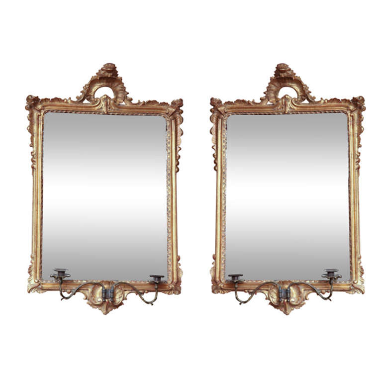 Pair of Late 18th Century English, George III Mirrors