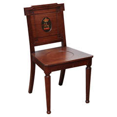 Early 19th century Armorial Hall Chair
