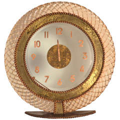 Barovier & Toso table-clock, 1940's.