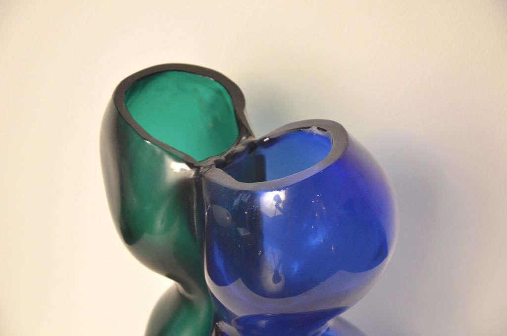 Murano Glass Cenedese Vase by Antonio Da Ros, 1960s For Sale