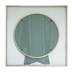 Art Deco Sterling Silver Mounted Etched Glass Picture Frame