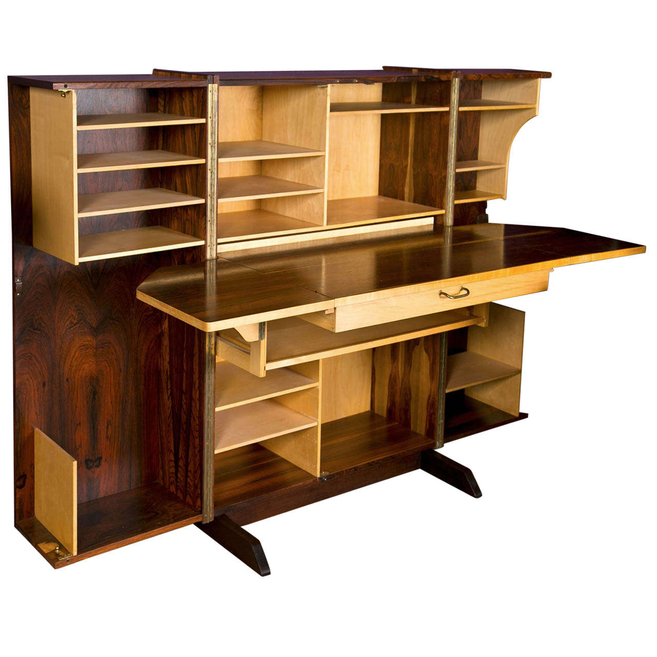 Scandinavian Modern Convertible Quot Hideway Quot Desk At 1stdibs