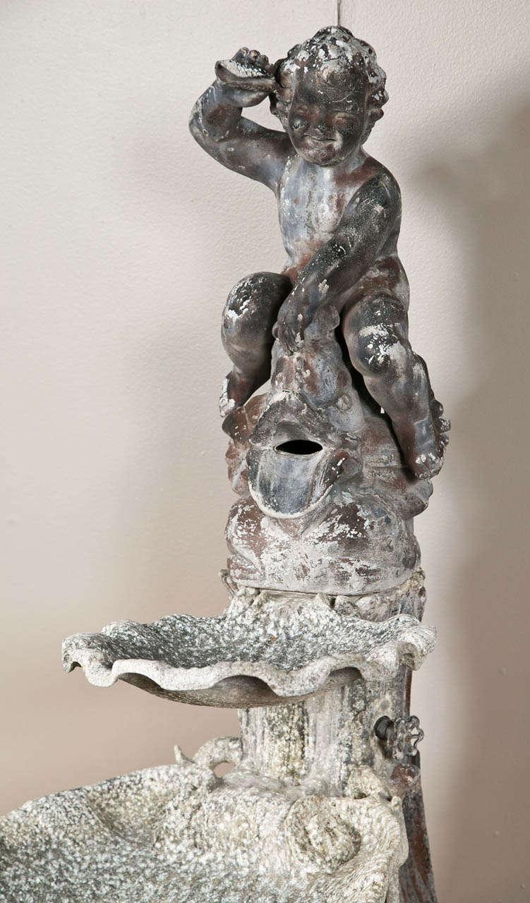 Italian Cast Metal Fountain For Sale