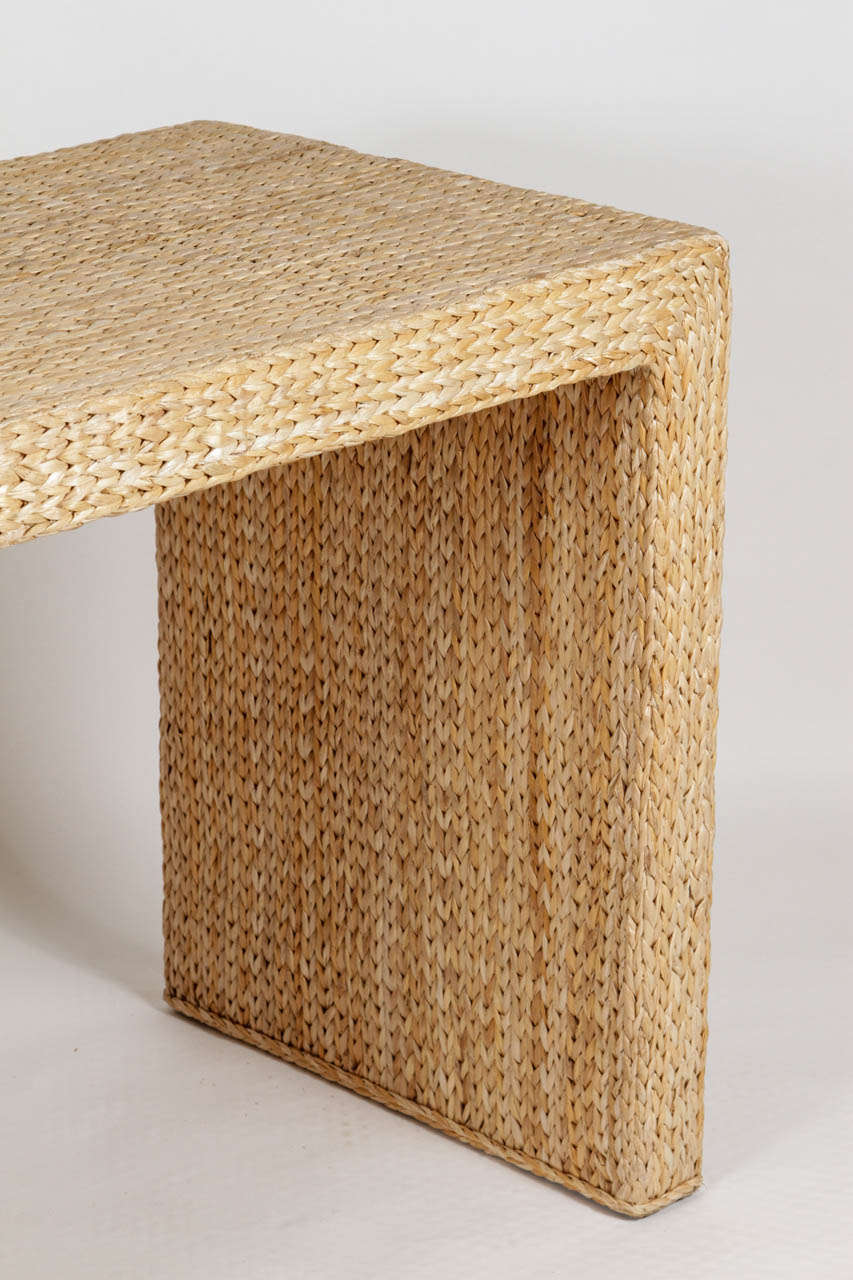 Woven Seagrass Console For Sale At 1stdibs