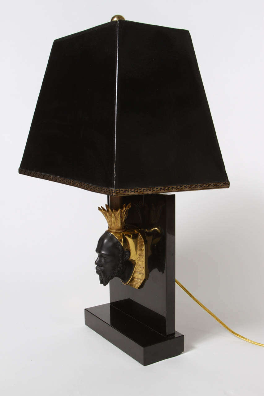 Pair of Maison Jansen Nubian Lamps For Sale 3