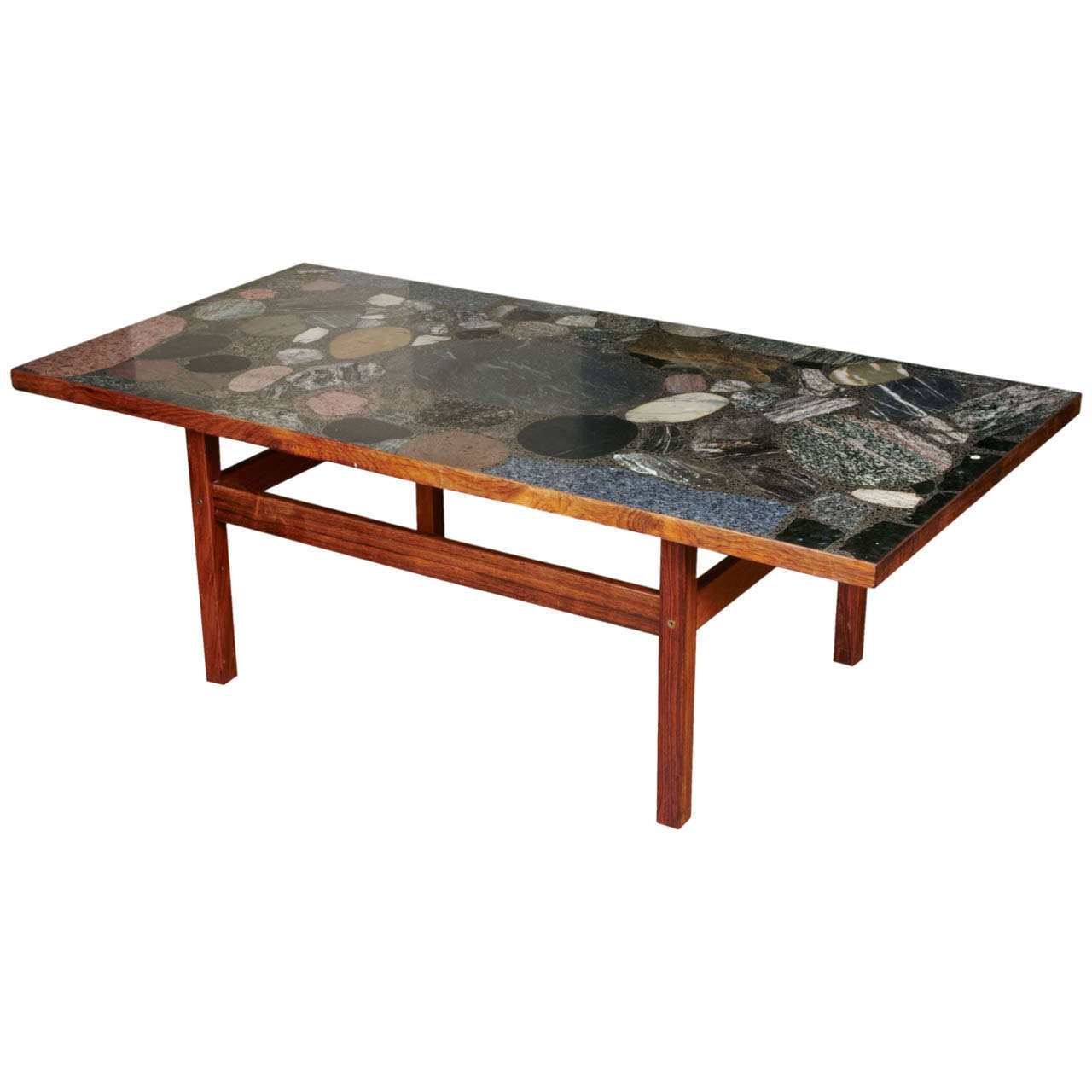 Danish coffee table with inlay of granite and stones ca1960 at danish coffee table with inlay of granite and stones ca1960 1 geotapseo Choice Image