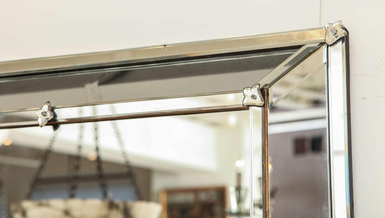 French Venetian Style Rectangular Mirror For Sale
