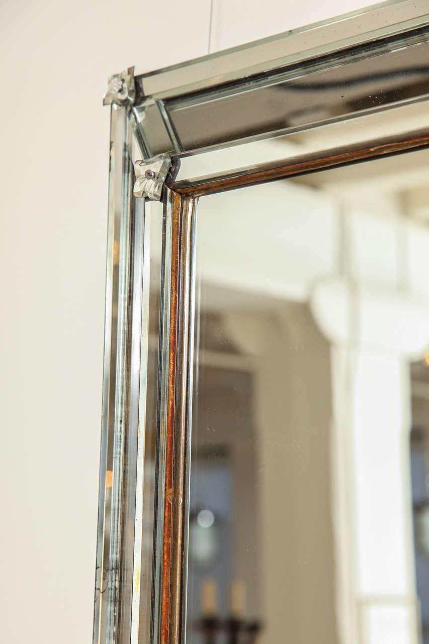 Venetian Style Rectangular Mirror For Sale 2