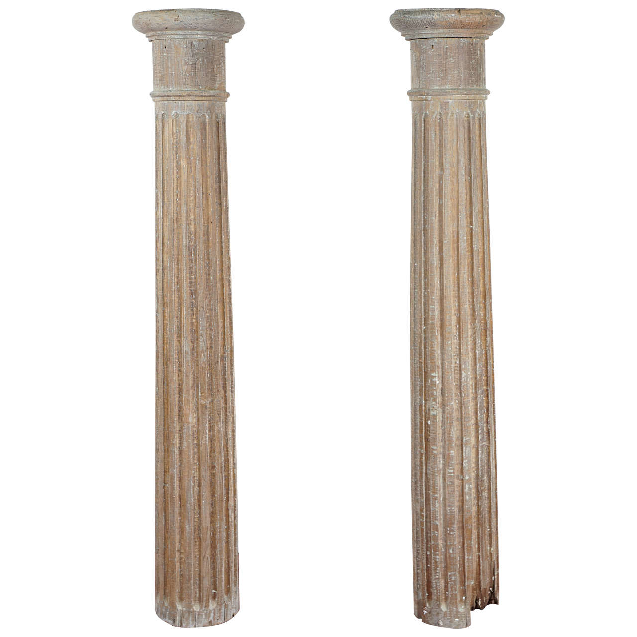 Pair Of Classical Tuscan Wood Columns For Sale At 1stdibs