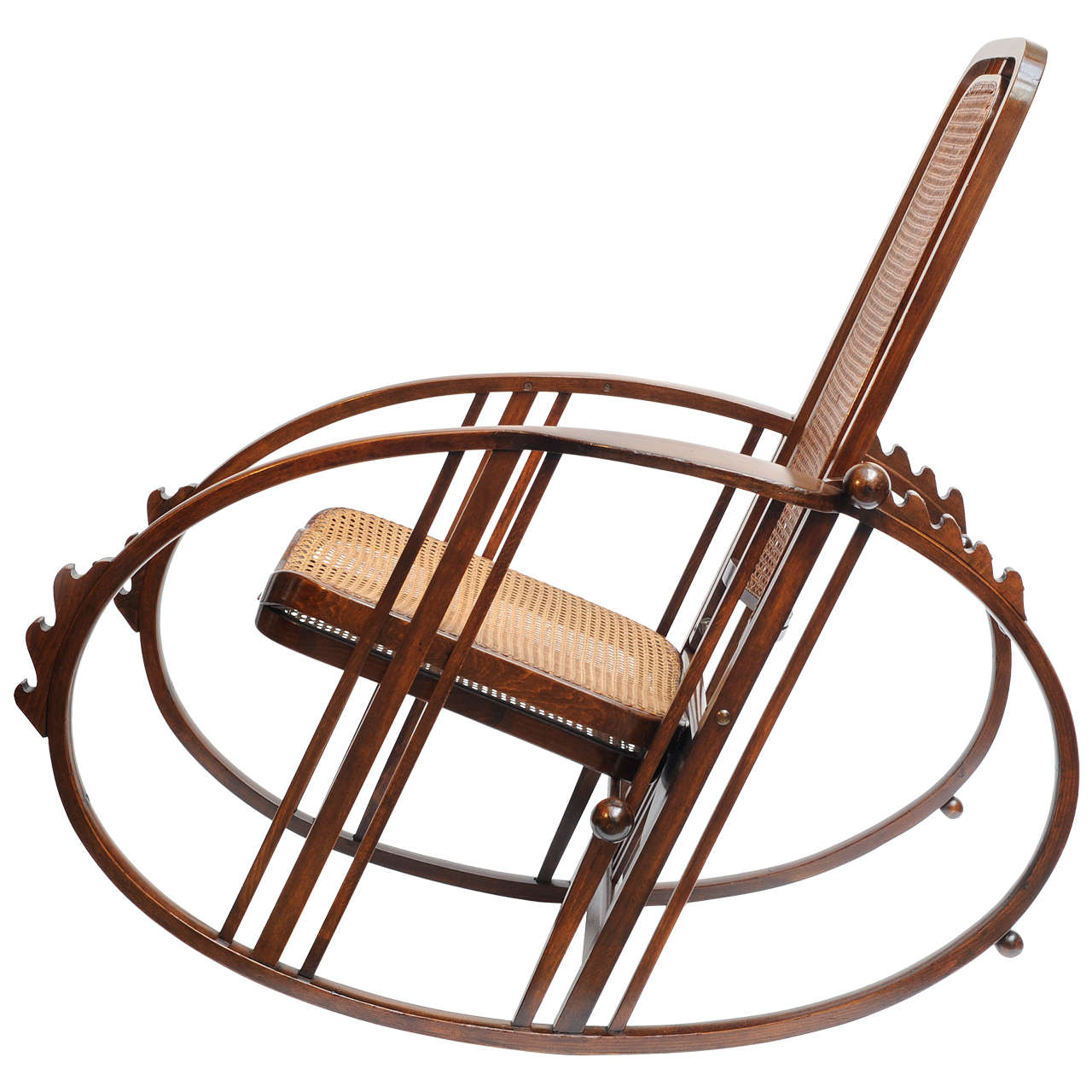 Rocking Chair with footrest by Antonio Volpe