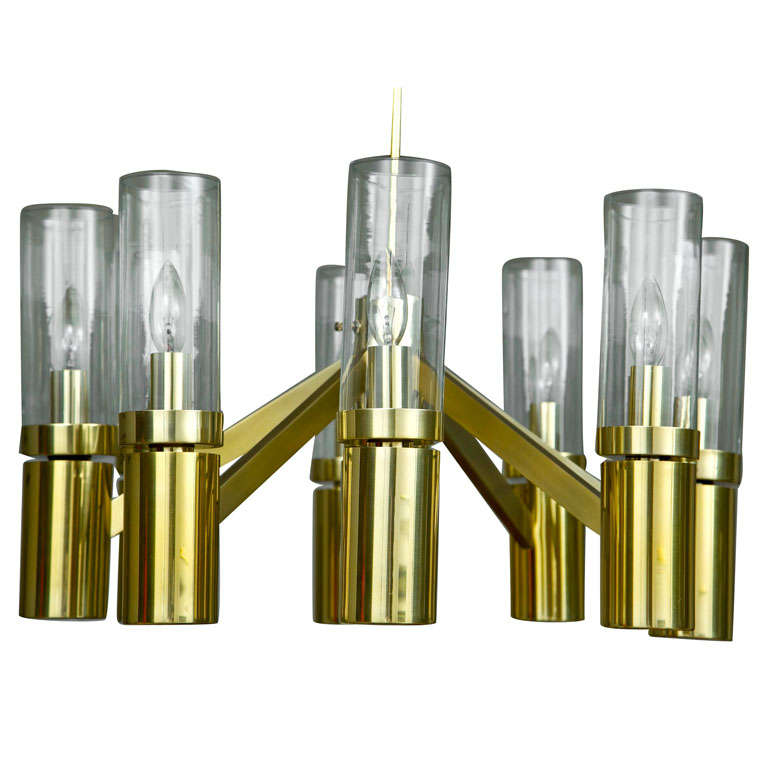 Lightolier Ring Chandelier At 1stdibs: 1960s Brass Chandelier By Sciolari For Lightolier At 1stdibs