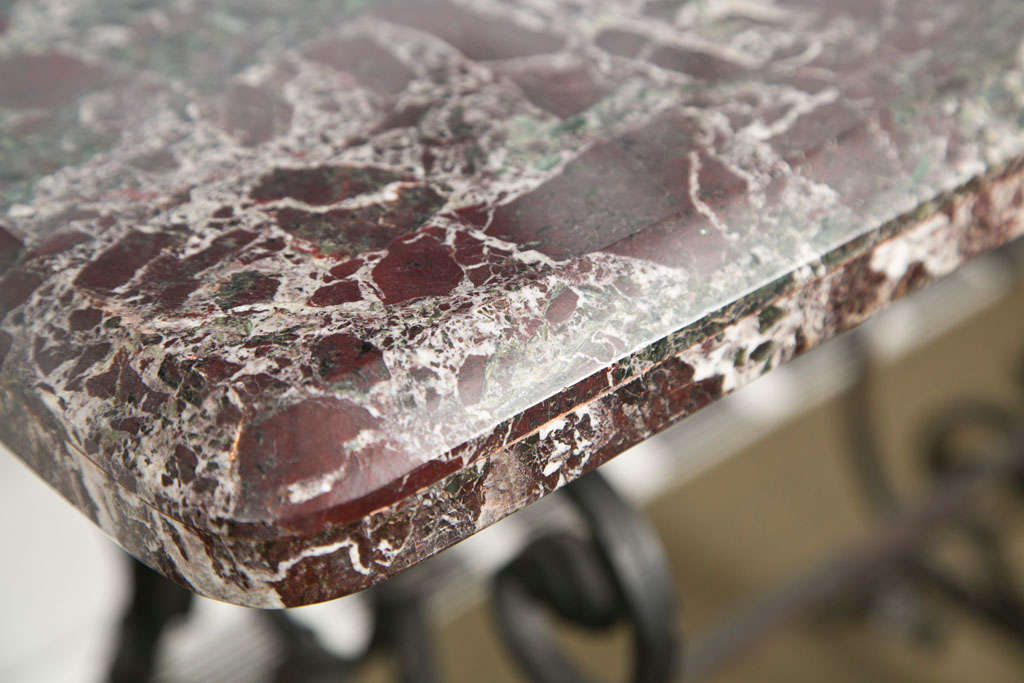 Pair of Marble Console Tables In Good Condition For Sale In Mt Kisco, NY