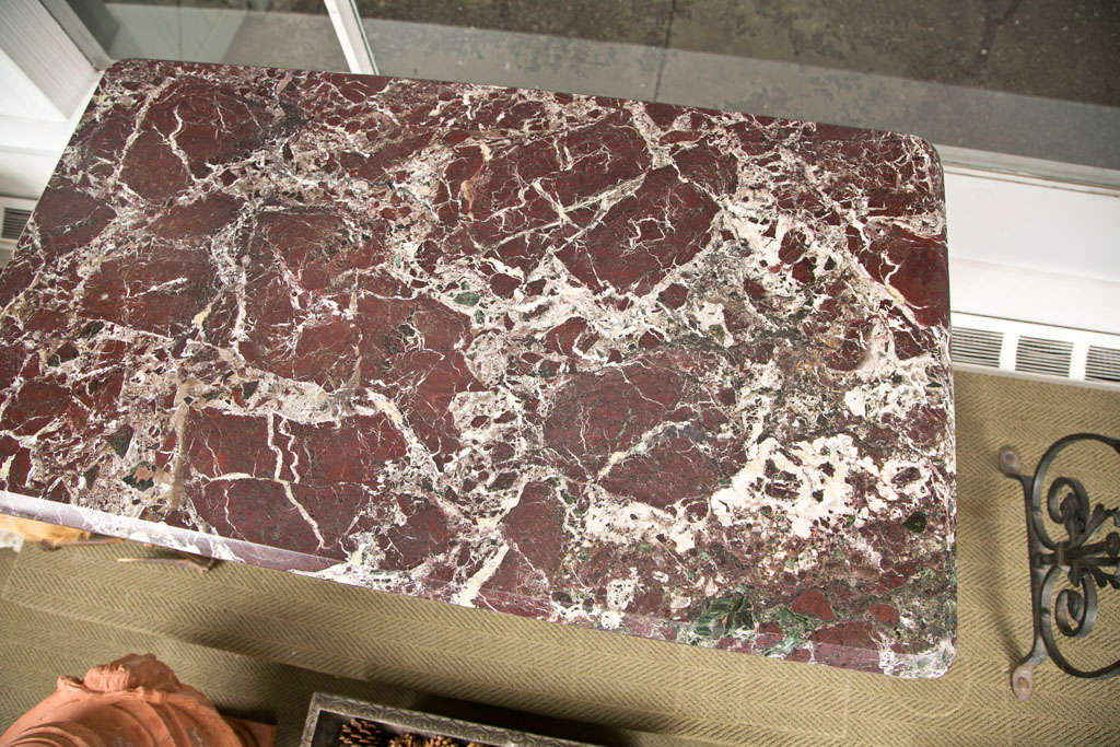Pair of Marble Console Tables For Sale 2