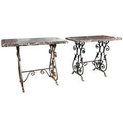 Pair of Marble Console Tables