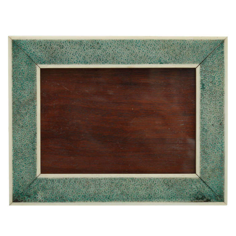 Art Deco Asprey Shagreen and Ivory Frame at 1stdibs