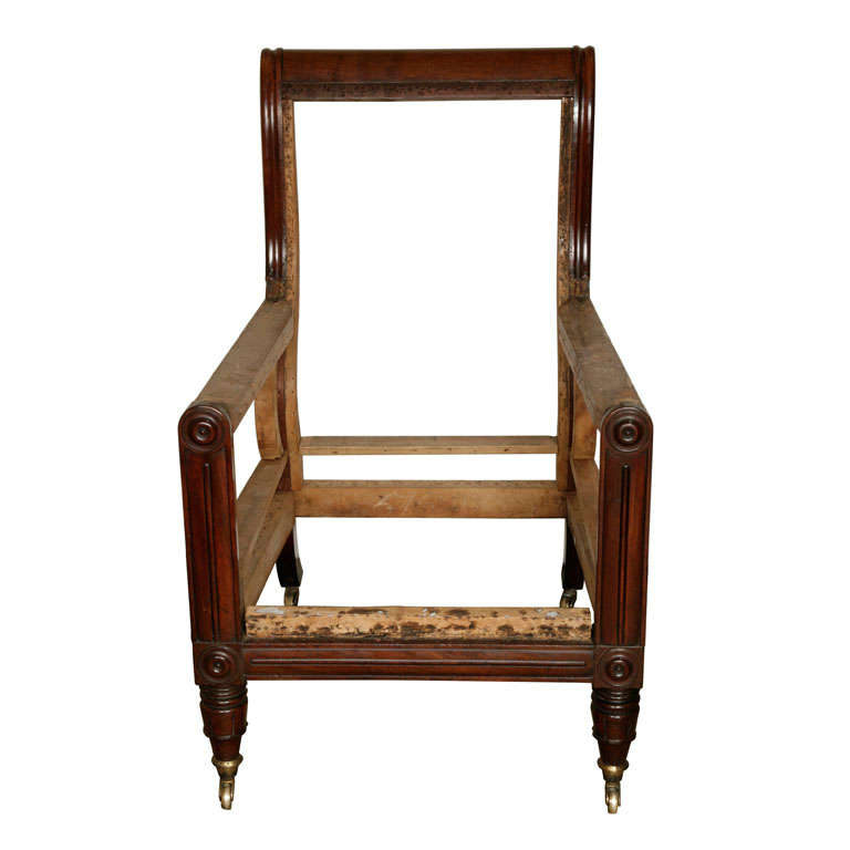 A william iv mahogany library chair at 1stdibs - Library lounge chairs ...
