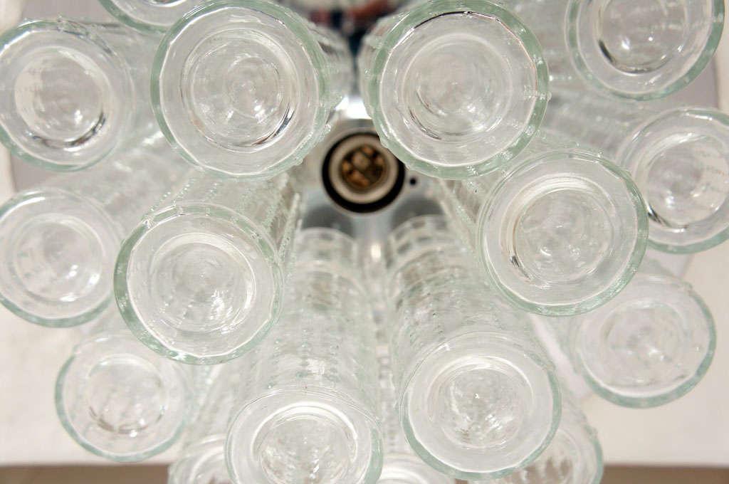 Flush mount glass cylinder ceiling lights (4) Lightolier 5