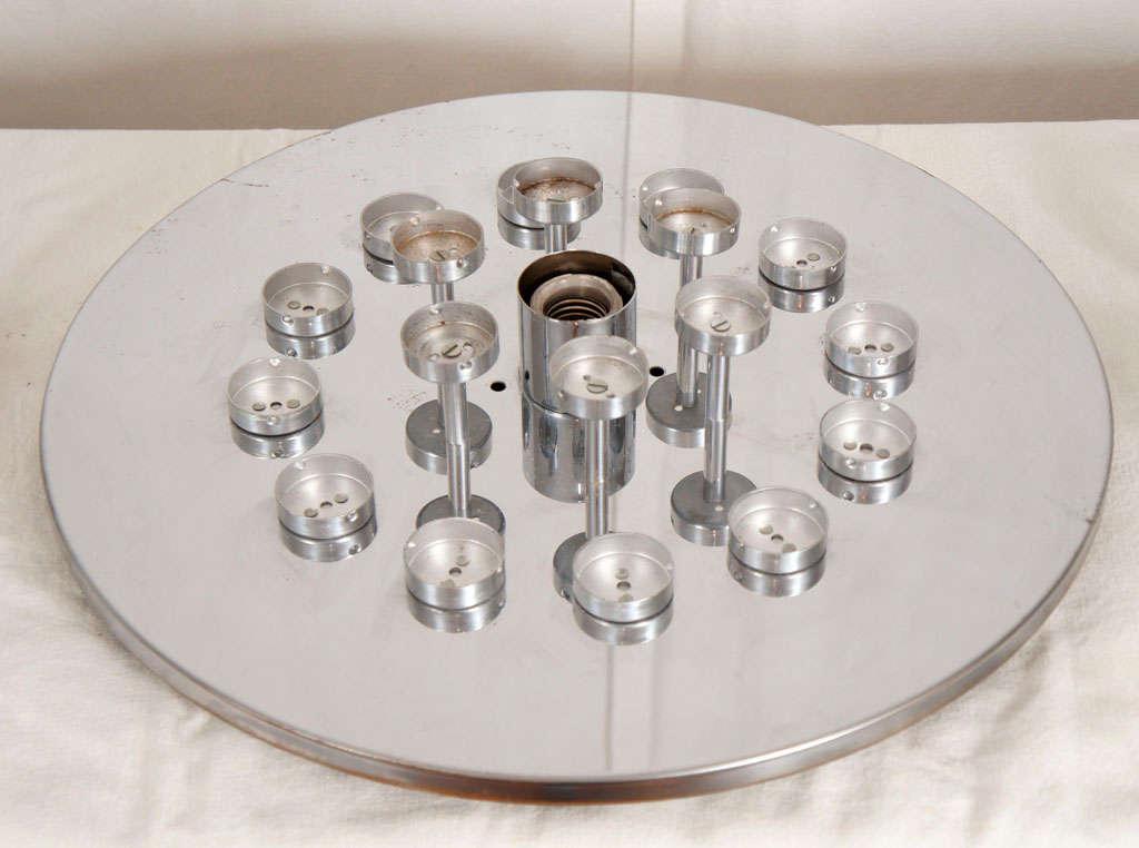 Flush mount glass cylinder ceiling lights (4) Lightolier 7