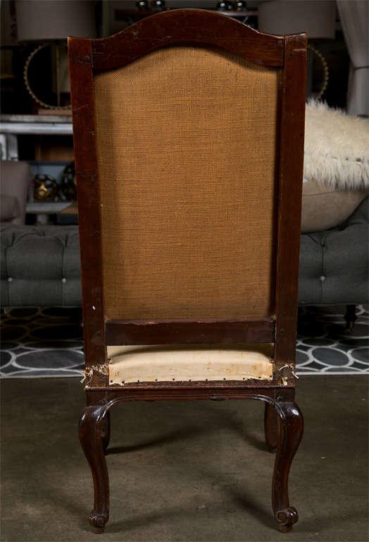 Pair of Italian Walnut Chairs, circa 1750 For Sale 2