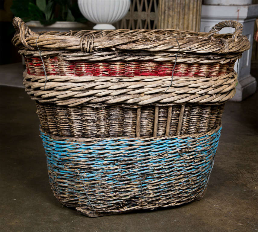 French Champagne Basket Late 19th Century At 1stdibs